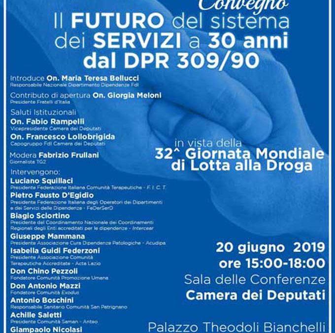 """Convegno """"Il futuro del sistema dei servizi a 30 anni dal DPR 309/90"""""""