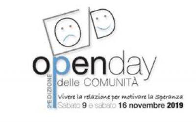 2° Open Day delle Comunità sabato 9 – sabato 16 novembre 2019