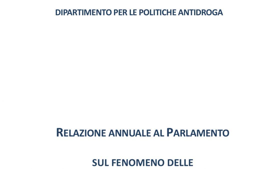 Relazione annuale al Parlamento sul fenomeno delle tossicodipendenze in Italia anno 2019 (dati 2018)