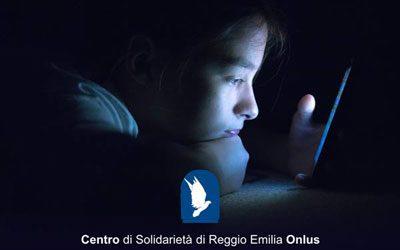 """Centro di Solidarietà di Reggio Emilia Onlus – """"Perdersi nella rete. Incontri sulla prevenzione e recupero dalle dipendenze digitali"""""""