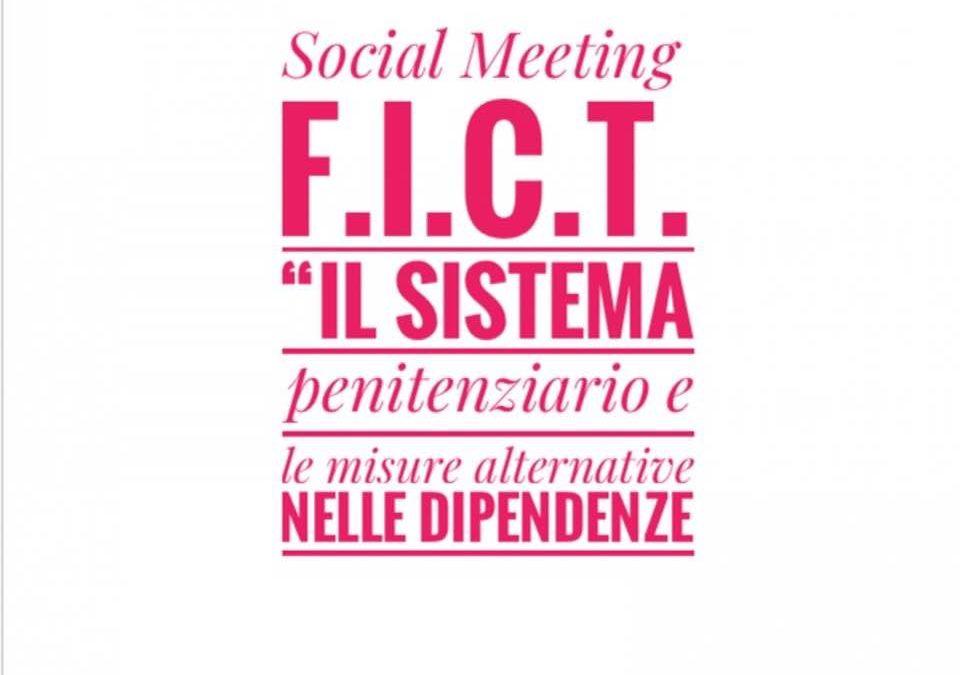 """Approfondimento formativo online FICT: """"Il sistema penitenziario e le misure alternative nelle dipendenze"""""""