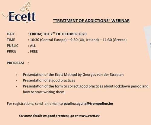 """Ecett-Networks: Webinar su """"Buone pratiche e formazione degli operatori""""."""