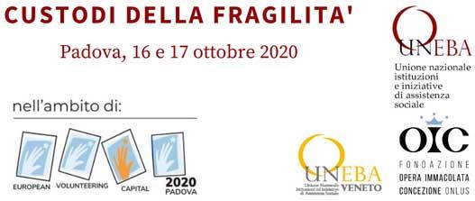 Le sfide del Covid19 per Terzo Settore e volontariato: convegno Uneba a Padova