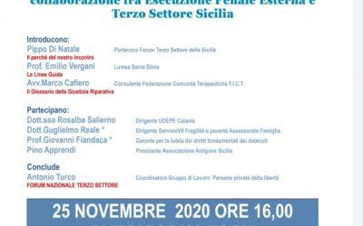 """Evento Formativo del Forum Terzo Settore Sicilia: """"Comunità e sanzioni penali: un volontariato deuteragonista"""""""