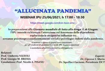 "WEBINAR IPU ""Allucinata Pandemia"" – 25/06/2021, h 17.00-18.30"