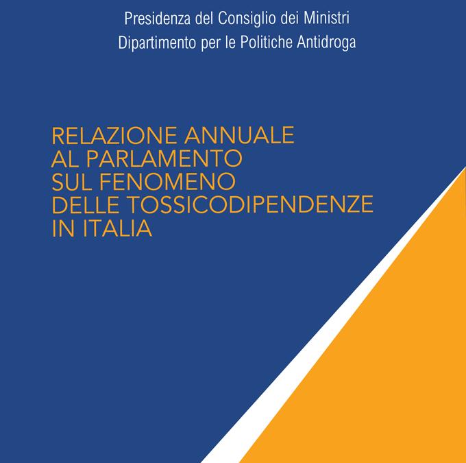 Relazione annuale al Parlamento sul fenomeno delle tossicodipendenze in Italia anno 2021 (dati 2020)